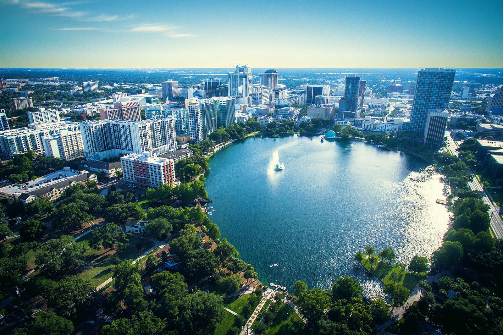 Lake Eola Park Orlando Florida