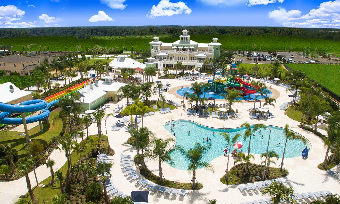 Pools birdseye view of Encore Resort