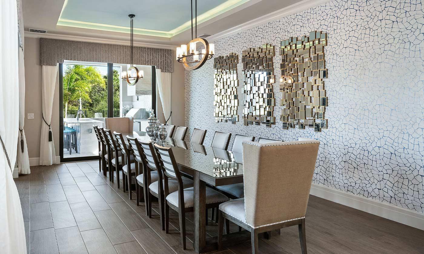 Beautiful luxury dining room table