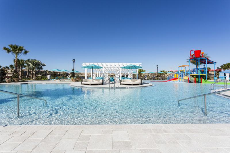 Pool with island cabana